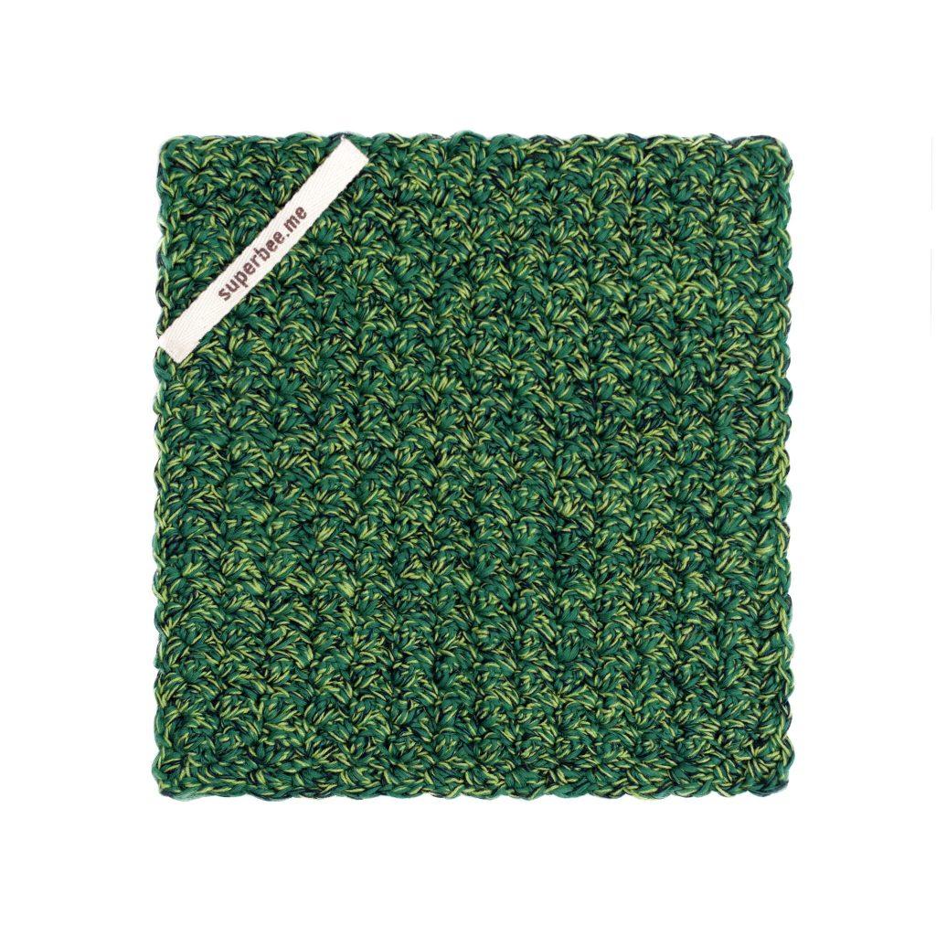 eco dishcloth dark green