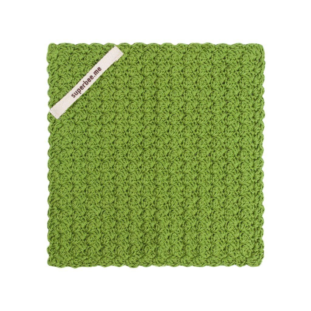 eco dishcloth green