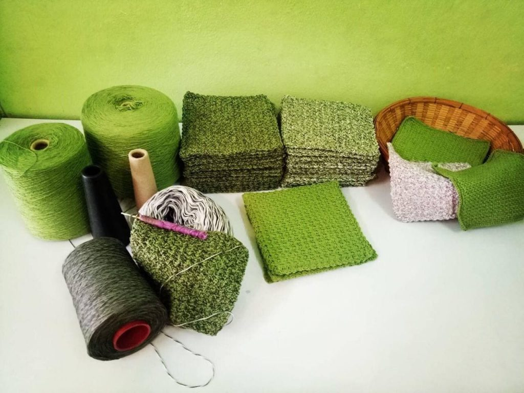 Eco Dishcloth in the Making
