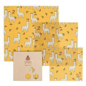 Beeswax Wraps Set in Alpacas Design