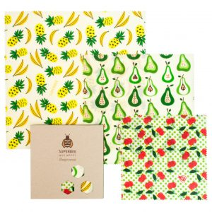 Beeswax Wraps Set in Fruit Punch Design