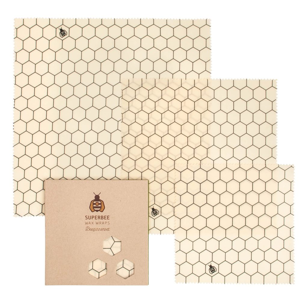 Beeswax Wraps Set in Hexagonia Design