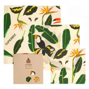 Beeswax Wraps Set in Jungle Design
