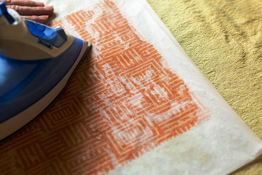 DIY Beeswax Wraps - Step 3 Ironing