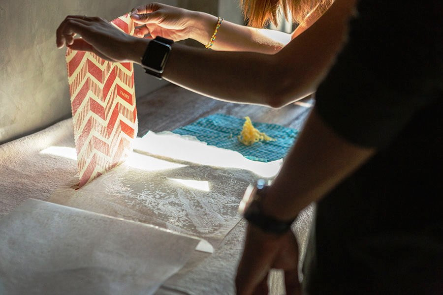 DIY Beeswax Wraps - Step 4 Drying