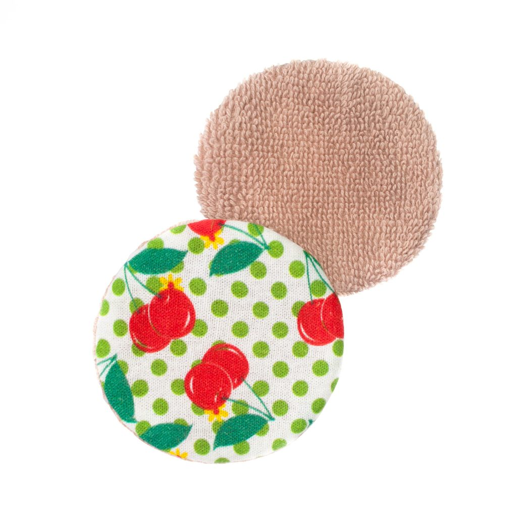 Eco Makeup Remover Pads Cherry Popper Front and Back