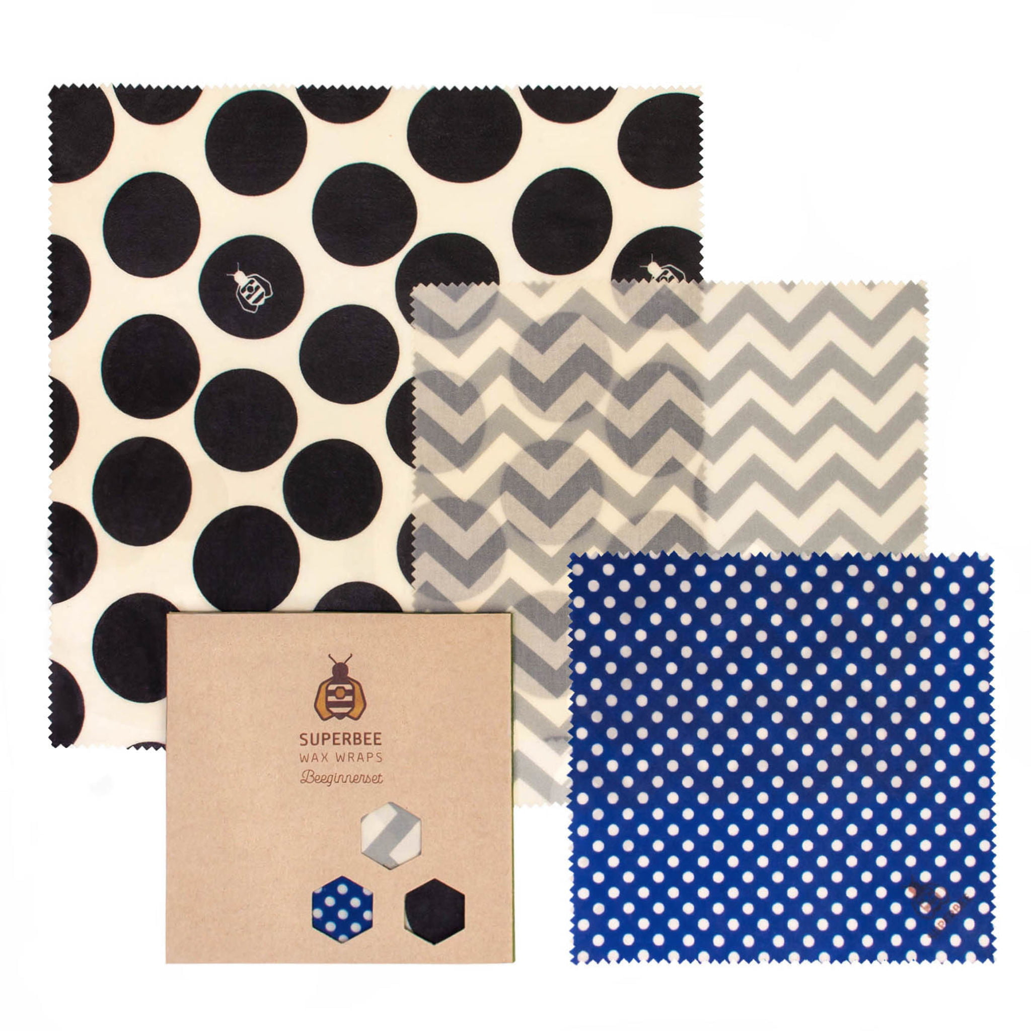 Beeswax Wraps Set in Hipster Design