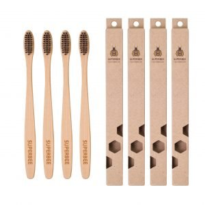 4 Bamboo Toothbrushes