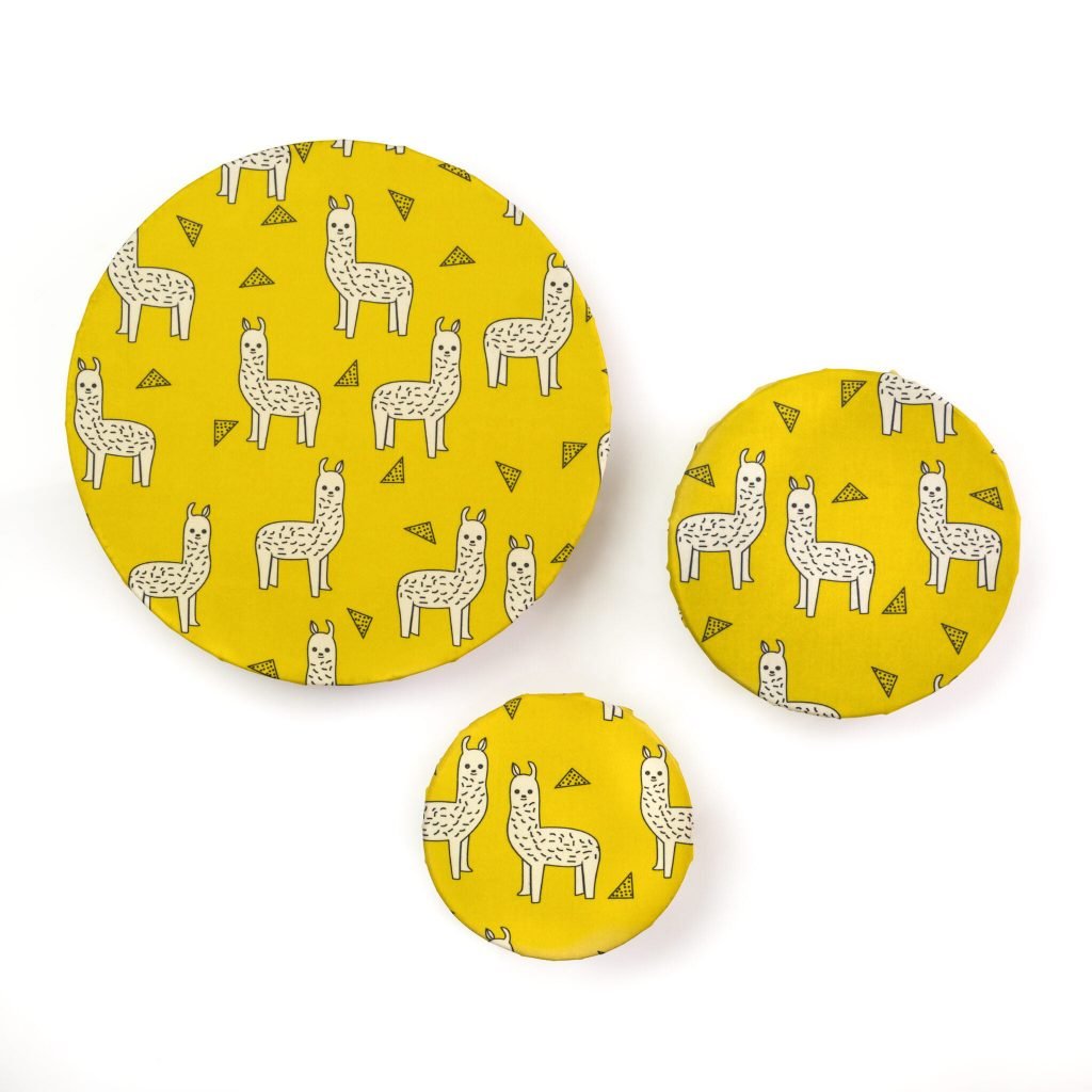 Alpacas Beeswax Wraps on Bowls