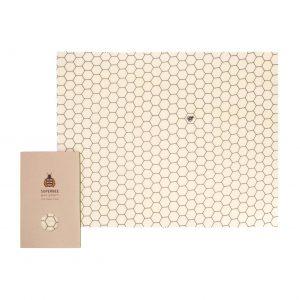 Beeswax Wrap XXL in Hexagonia Design