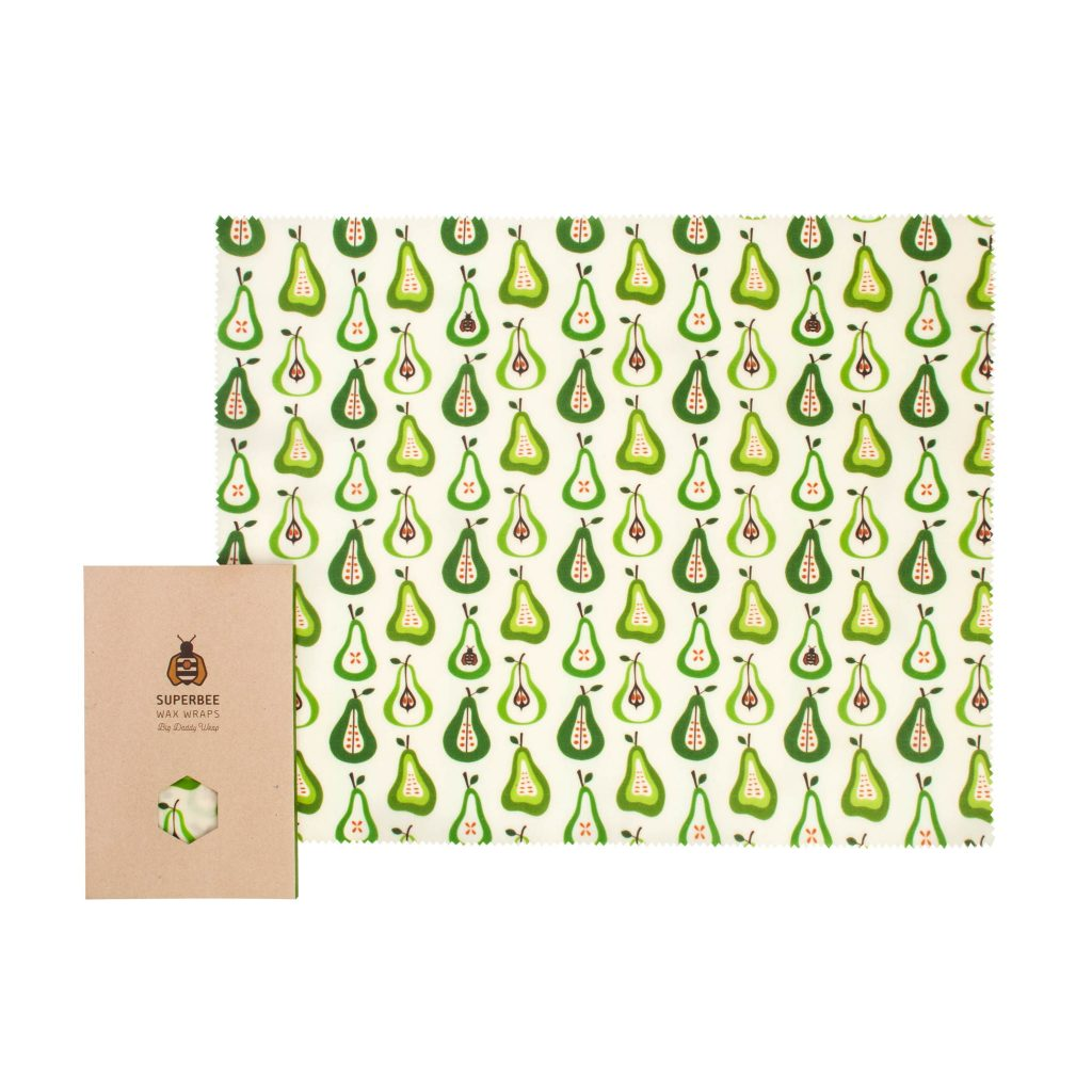 Beeswax Wrap XXL in Pear Design