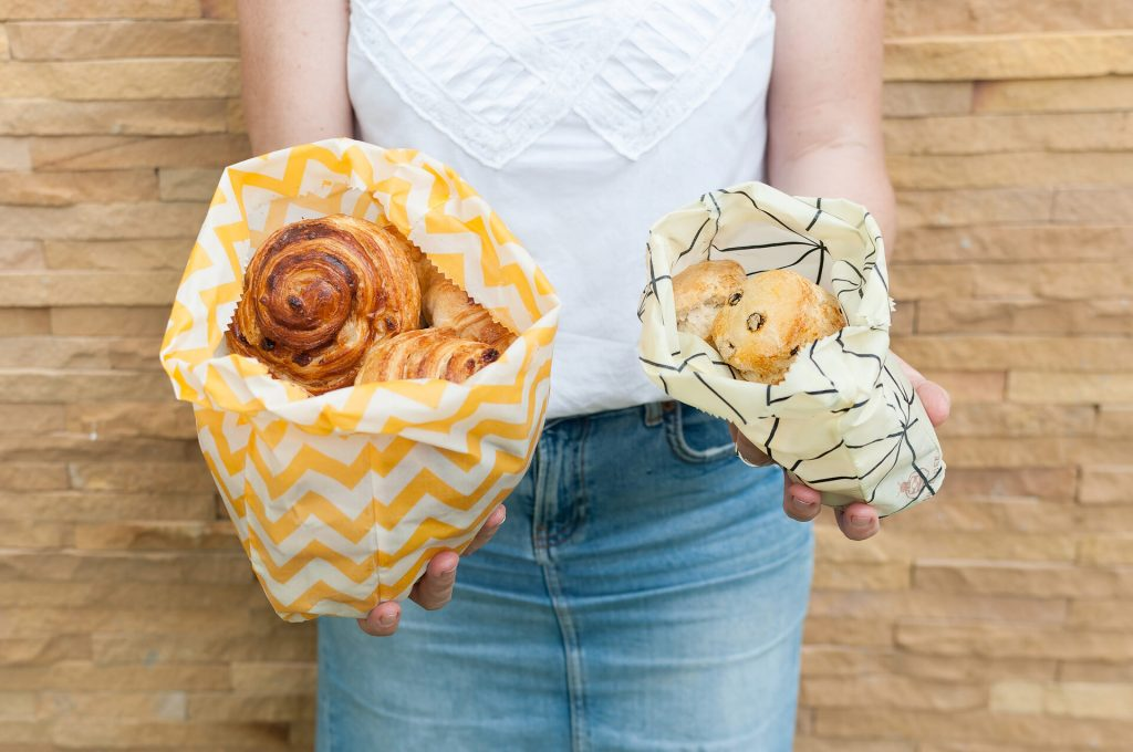 Beeswax Bags with Baked Goods