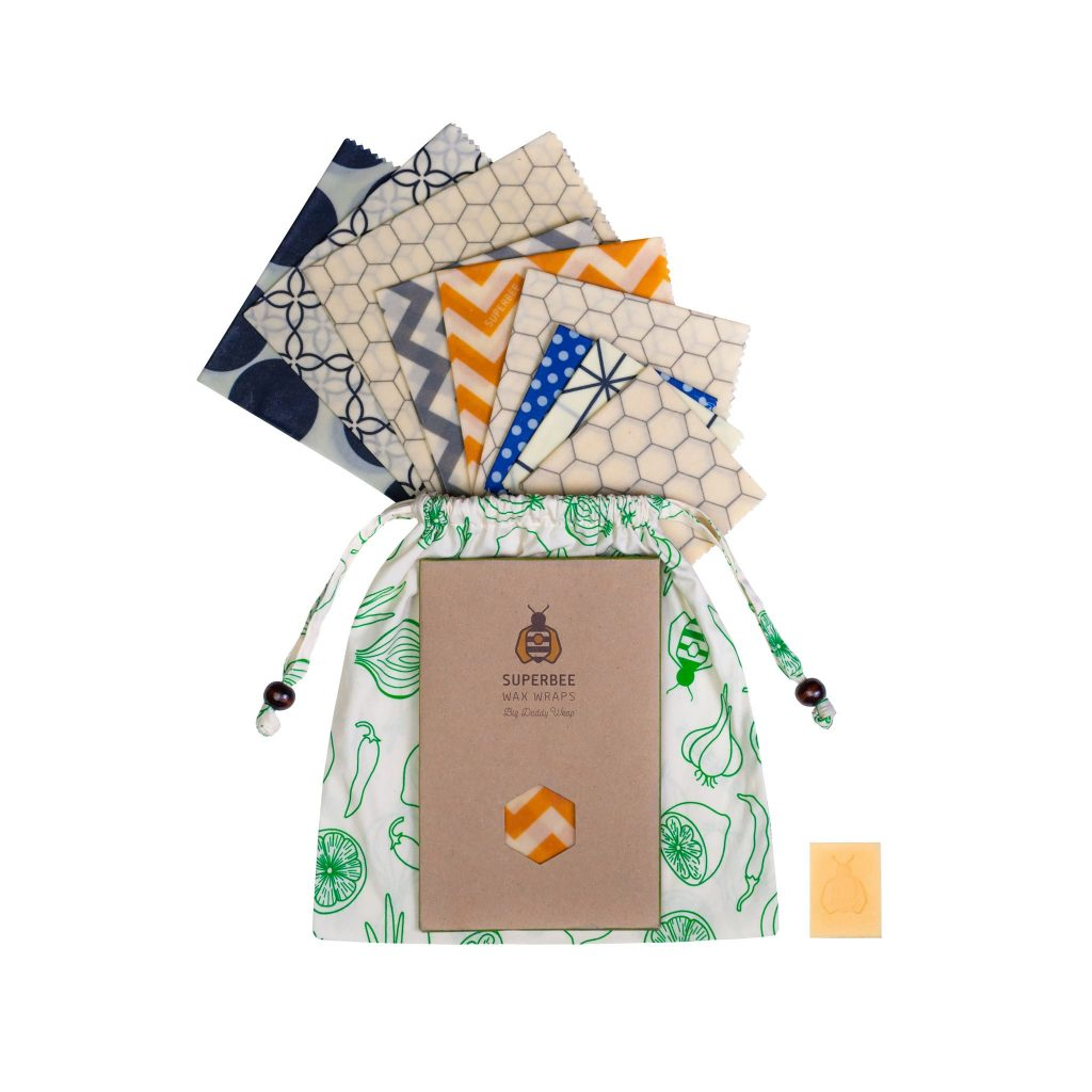 10 Pack Beeswax Wraps Set