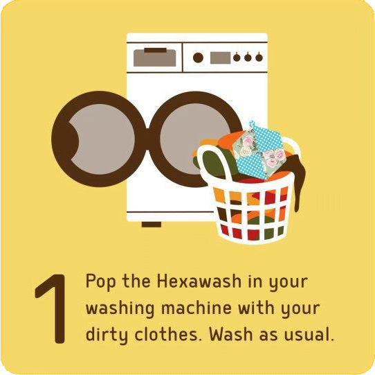 How to use Hexawash Step 1