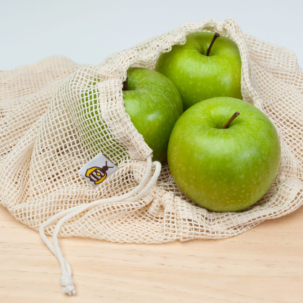 Mesh Bags with Apples
