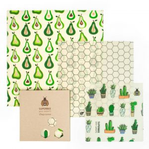 Beeswax Wraps Set in Prickly Pear Design