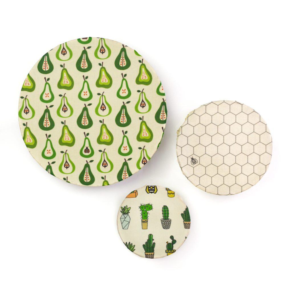 Prickly Pears Beeswax Wraps on Bowls