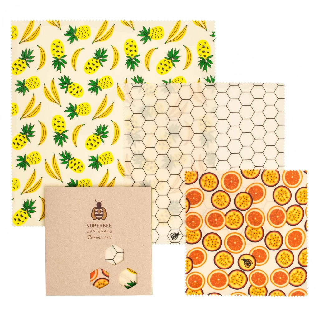 Beeswax Wraps Set in Summer Vibes Design