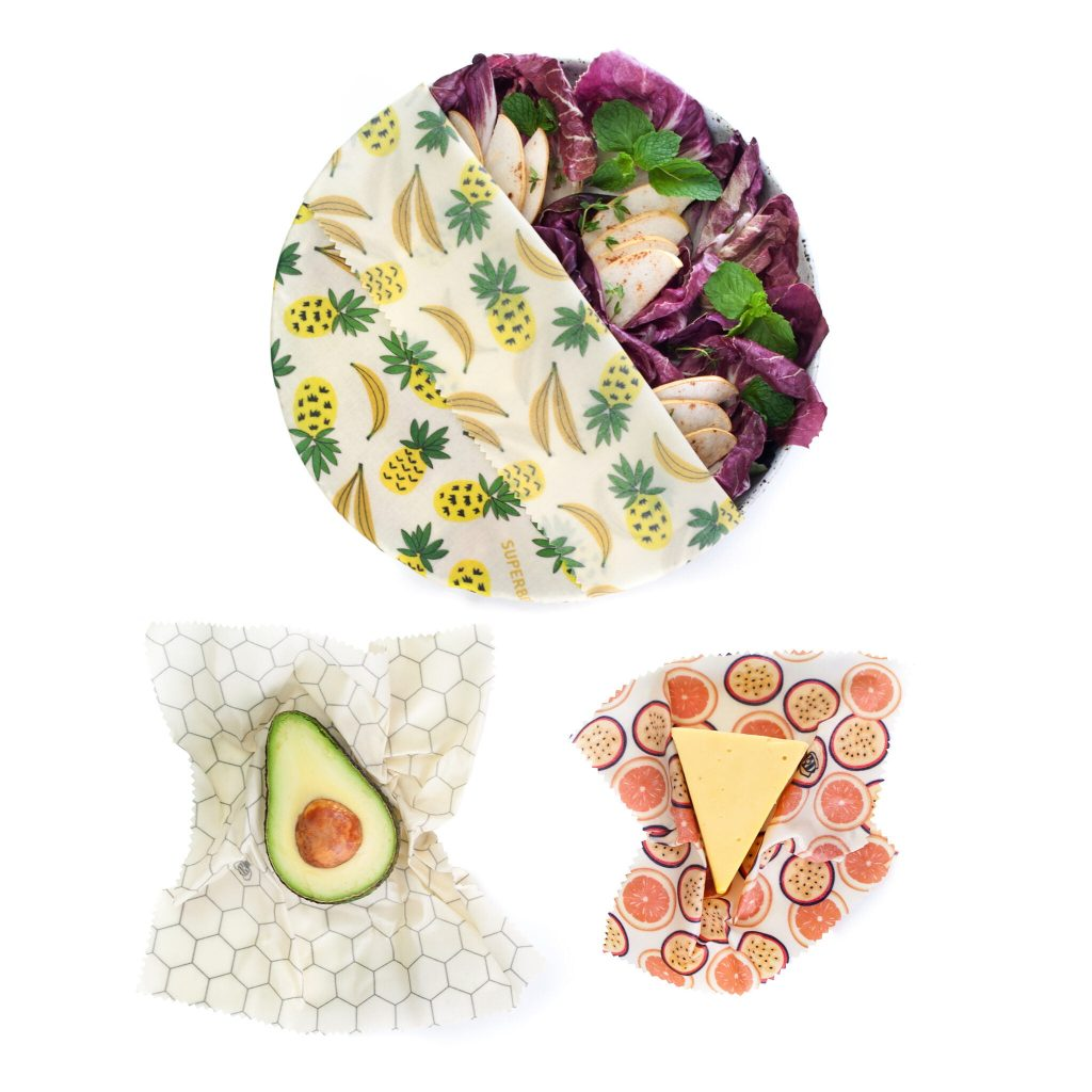 Summer Vibes Beeswax Wraps Set in use