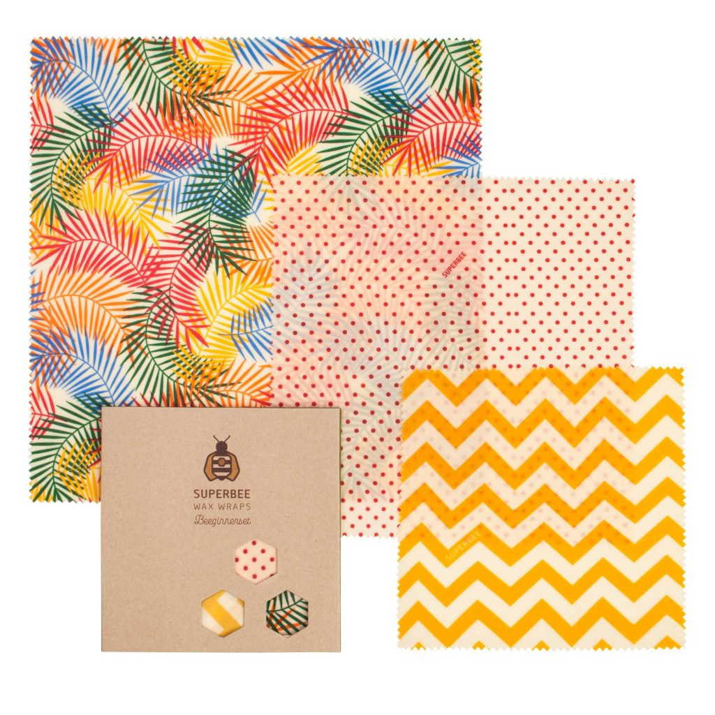 Beeswax Wraps Set in Tropical ParadiseDesign
