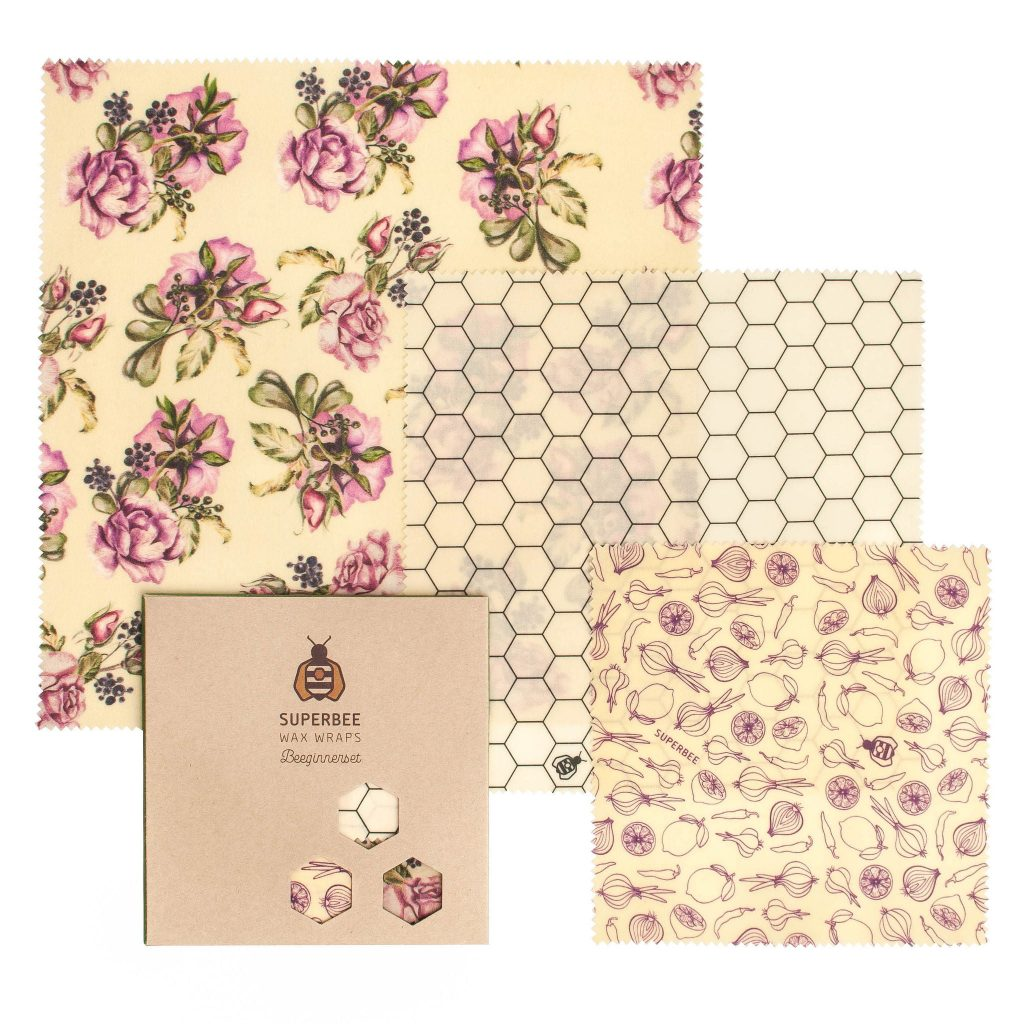 Beeswax Wraps Set in Ultra Violet Design