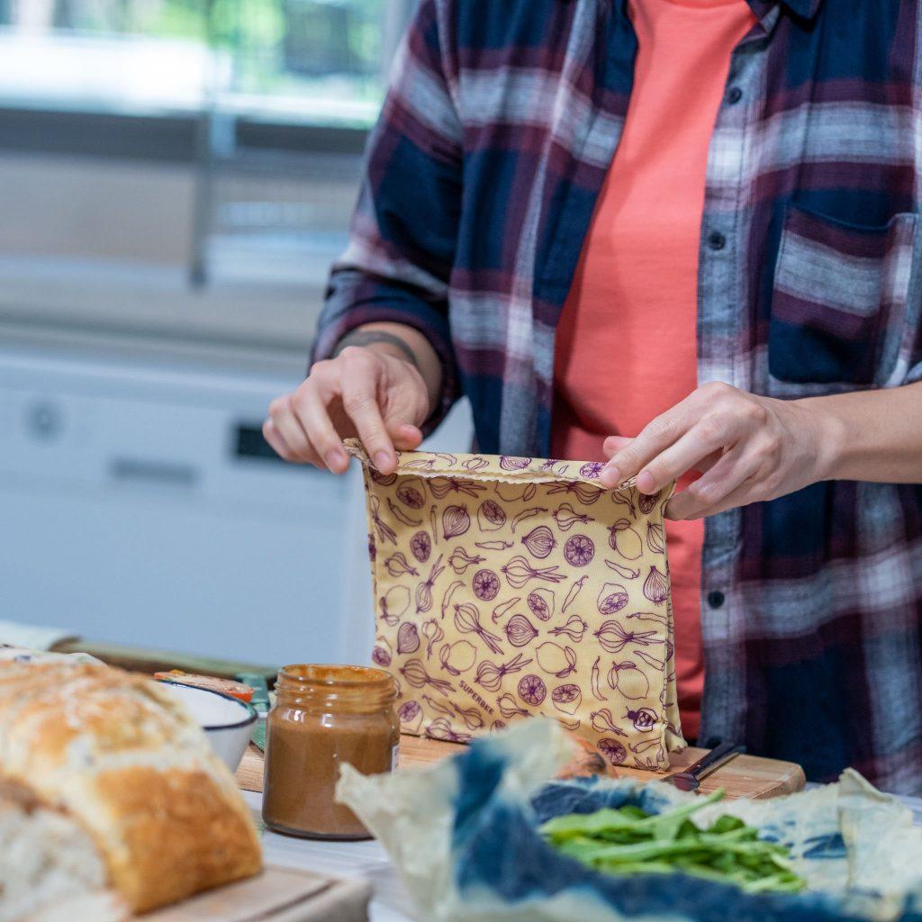 Waxed Food Bag Usage Step 3