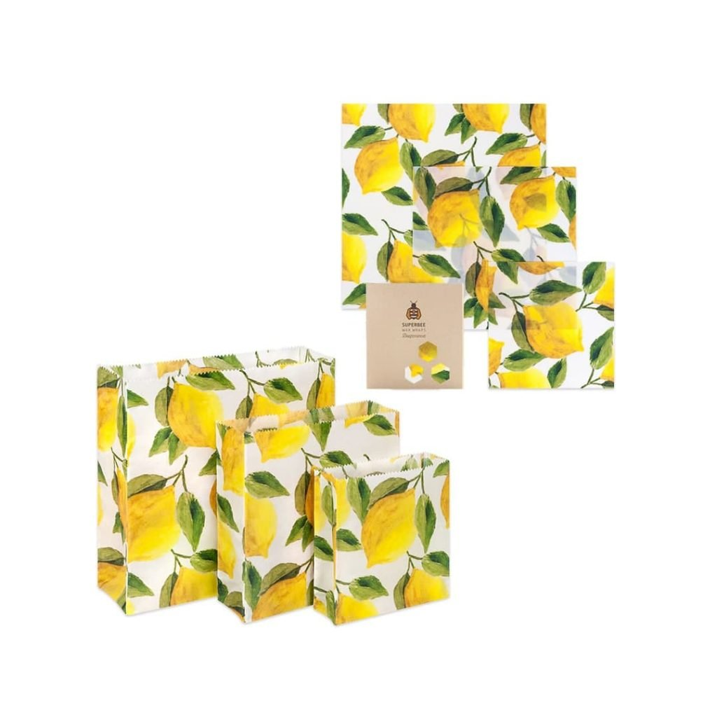 Bees wrap Lemon Design Set